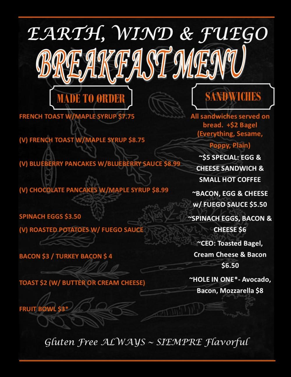PUF Breakfast Menu