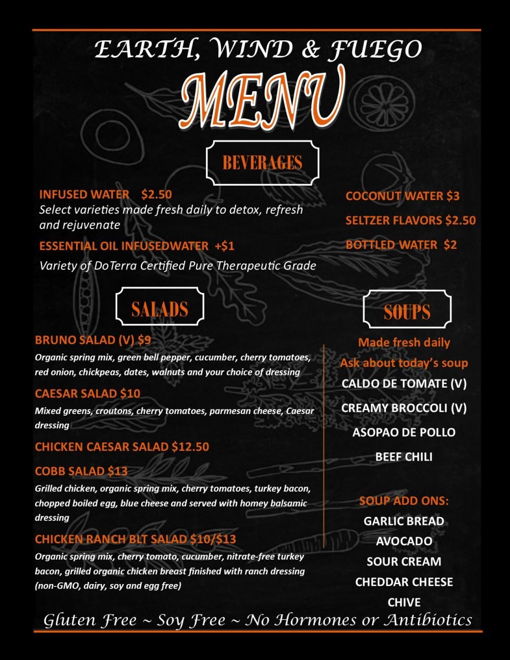 Puf Lunch menu